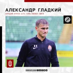 Александр Гладкий – лучший игрок 4-го тура Favbet Лиги!